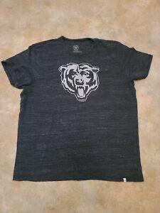 '47 Brand NFL Chicago Bears Dark Gray Team Logo T-Shirt Men's Size 2XL