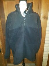NWT US Military Large PolarTec Cold Weather Fleece Jacket Coat Black 300 Series