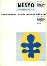 NESYO. N. 8/9, 2. Jahrgang, 1965. Phonetische und visuelle poesie. Optical Art