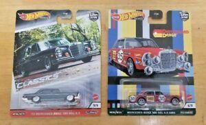 Hot Wheels ~ Mercedes-Benz 280 SEL ~ 300 SEL AMG ~ Modern Classics ~ Lot of 2