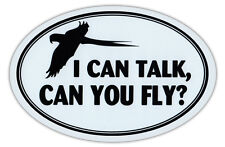 Oval Shaped Car Magnet - I Talk, Can You Fly - Bird Lovers - Cars, Refrigerators