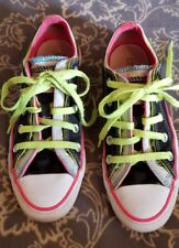 CONVERSE ALL STAR Multi-Tongue NEON Low Sneaker 115520F mens Size 4 woman's 6
