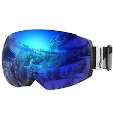 New Outdoor Master Ski Snowboard Goggles Pro -Blue Interchangeable Lens- 100% Uv