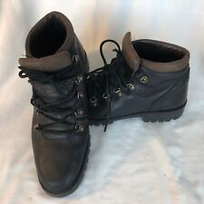 Men's Timberland Leather Hiking Boots - Size 8-Black & Brown--Made in Italy