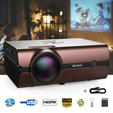 FHD 1080P 4K 3D WiFi Wireless LED Projector Android 6.0 BT TV Video Home Theater