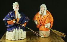 Japanese Vintage Doll Kimekomi Takasago Kimono Noh Mask Old Woman Old Man