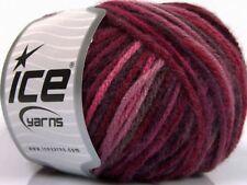 400g Wollpaket Farbverlaufsgarn Wolle Stricken Red Maroon Burgundy 80m / 50g