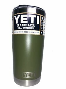 Brand New Rambler YETI 20oz Tumbler Cup With Magnetic Slider Lid Olive green