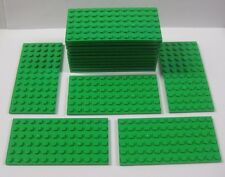 NEW Lego x16 Pieces BRIGHT GREEN BASE PLATES 6 x 12 x 1 Bulk Lot 3028 Baseplates