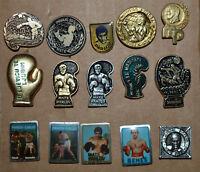Yugoslavia boxing Mate Parlov Havana Benes glove club pin badge lot