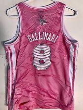 Adidas Women's NBA Jersey New York Knicks Danilo Gallinari Pink sz M