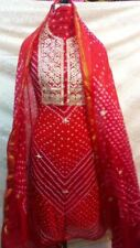 Exclusive Jaipuri Print Gota Work Indian Salwar Kameez Bollywood Shalwar Suit
