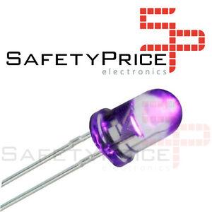 Kit 25 Diodos LED 5mm UV ULTRAVIOLETA Arduino,Electronica INSOLADORA ref 380
