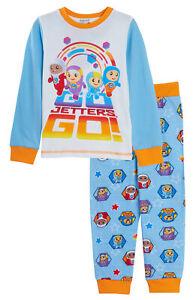 Kids Go Jetters Full Length Pyjamas Boys Girls Infants 2 Piece Pj Set Nightwear