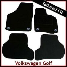 Volkswagen VW Golf Mk6 2008-2012 Fully Tailored Fitted Carpet Car Mats BLACK