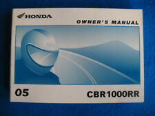 Honda 2005 CBR1000RR BRAND NEW Original Factory Owners Manual P798