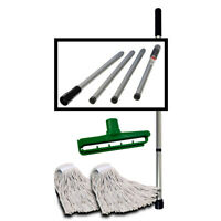 54-inch Durable Free P/&P Kentucky Mop Handle Complete With Clip 54-Inch Green