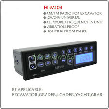Heavy Duty Truck Tractor Excavator Radio AM FM  With AUX and USB Input 12V 24V