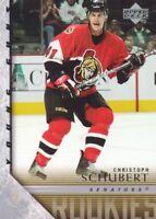 2005-06 Upper Deck Hockey #460 Christoph Schubert YG RC Ottawa Senators