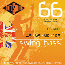 Rotosound RS66EL Stainless Steel Bass Guitar Strings ex long gauges 45-105
