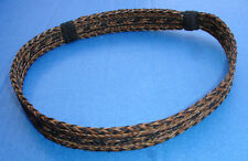 "Western Cowboy/Cowgirl Slide Hat Band Black/Brown Horsehair 7/8"" Wide"