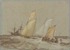 Shipping, 1829, J.M.W. TURNER, Romanticism Art Poster