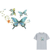 Butterfly Flowers Patch Iron on Sticker DIY Heat Transfer Patches Applique   _ti