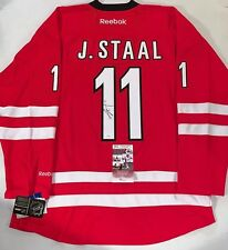 2d86a30a4 Jordan Staal signed Carolina Hurricanes Reebok Premier jersey autographed  JSA
