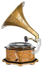 Grammophon Trichtergrammophon für Schellack Platten Gramophone im antik Stil