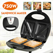 220V Household Sandwich Maker Toaster Waffle Iron Grill Panini Press loaf bread