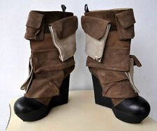 Wedge Mid-Calf Pull On Boots for Women