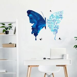 Creative Blue Butte Wall Sticker Bedroom living Office Rooms Art Home Decoration