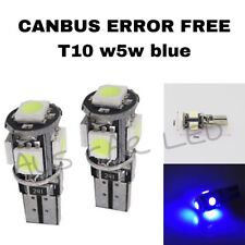 2X BLUE CANBUS W5W ERROR FREE LED Number Plate Lights for Holden Commodore VE VF