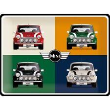 BLECHSCHILD 23254 - MINI COOPER 4 CARS POP ART - 30x40 cm - NEU