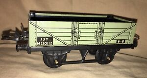 Hornby Series Meccano Wagon 13 T M210112 6-8 Open Train Car England