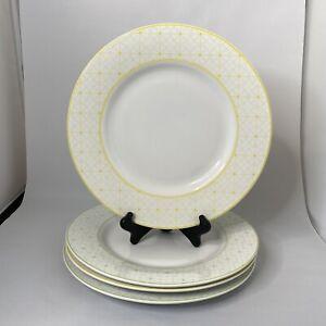 "Williams Sonoma CITRON Yellow Green Mixed 12"" Dinner Plates - Set Of 4"