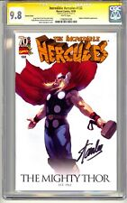INCREDIBLE HERCULES #132 CGC SS 9.8 STAN LEE SIGNED THOR VARIANT COVER