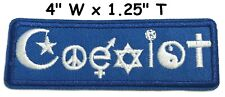 Coexist Embroidered Patch Iron-On / Sew-On Decorative Peace Love Hippie Applique