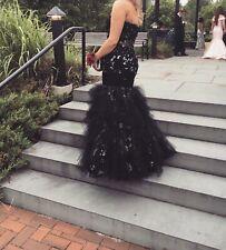 Jovani Black Lace Mermaid Prom Dress | Size 14 | Style 172008