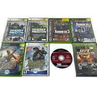 8x Lot Microsoft Original Xbox Games TOM CLANCY METAL OF HONOR Shooter Bundle