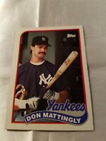 1989 Topps DON MATTINGLY Baseball Card #700 New York Yankees