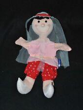 Peluche doudou poupée marionnette ITSLMAGICAL rose rouge voile 30 Cm NEUF