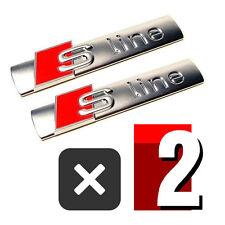 2 PCS S Line Emblem Chrome Metal Badge Sticker For AUDI A3 A4 A6 S4 RS4 S3 S4 TT