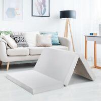 Tri Folding Portable RV Memory Foam Mattress Topper, Guest Bed, Camper Camping