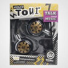 Wicked Audio WI-8151 Tour Foldable Headphones w/ Mic WI8151 Black