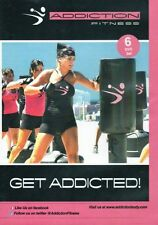 ADDICTION FITNESS HEAVY BAG BOXING WORKOUT 6 DVD SET - GET ADDICTED EXERCISE NEW