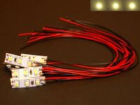 S533 - 10 Stück Mini LED Hausbeleuchtung mit Kabel warmweiß 8-16V für Gebäude