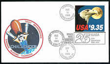 *1909 1983 $9.35 EAGLE AND MOON COVER-LAUNCHED ABOARD CHALLENGER-AUG 30 1983