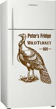 Xmas, Personalised Wild Turkey Fridge, Bar, Bourbon Sticker Decal, 580 x 400mm