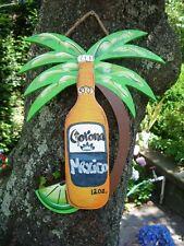 CORONA TROPICAL TIKI HUT DRINK BEACH BAR  POOL PAYIO PARROTHEAD BEER SIGN PLAQUE